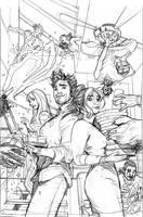Mr. and Mrs. X #6 Cover Pencils by TerryDodson