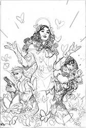 Wonder Woman 61 Cover Pencils by TerryDodson