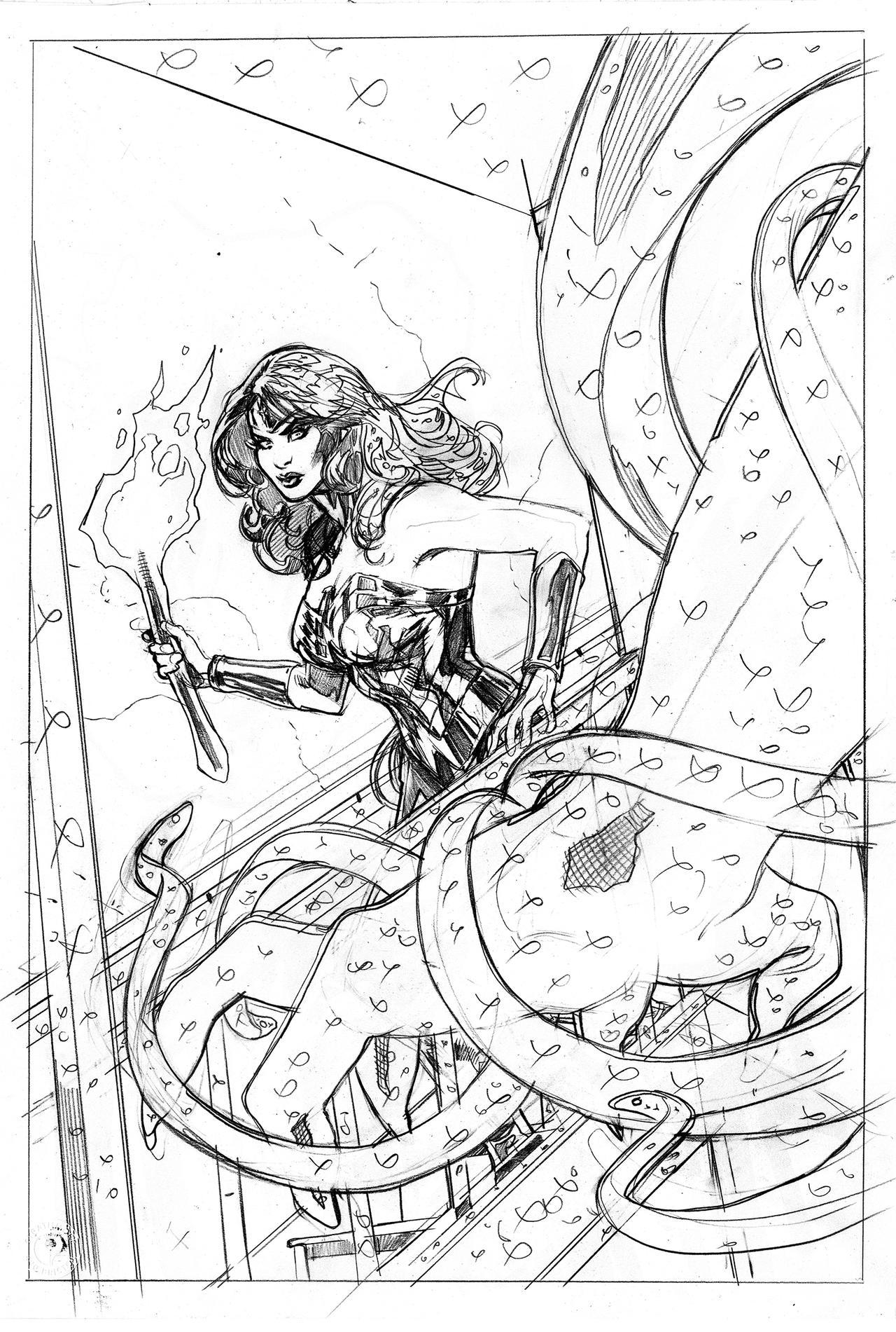 Wonder Woman 64 Cover Pencils