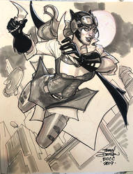 Steampunk Batgirl Sketch by TerryDodson