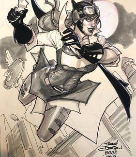 Steampunk Batgirl Sketch