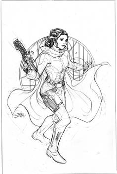 Star Wars Age of Rebellion Leia Cover Pencils