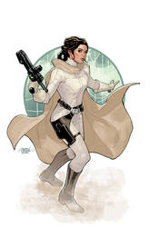 Star Wars Age of Rebellion Leia Cover by TerryDodson