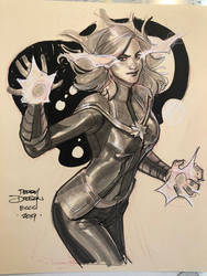 Captain Marvel ECCC Sketch by TerryDodson