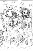 Mr. and Mrs. X #10 Cover Pencils by TerryDodson