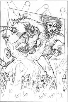 Mr. and Mrs. X #10 Cover Pencils