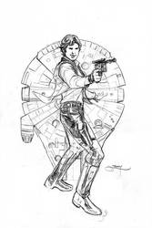 Star Wars Age of Rebellion - Solo Cover Pencils by TerryDodson