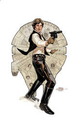 Star Wars: Age of Rebellion - Solo Cover by TerryDodson