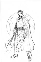 Star Wars Age of Rebellion - Lando Cover Pencils by TerryDodson