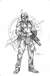 Star Wars Age of Rebellion - Boba  Cover Pencils by TerryDodson
