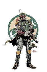 Star Wars Age of Rebellion - Boba  Cover by TerryDodson