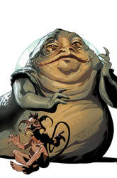 Star Wars Age of Rebellion - Jabba Cover by TerryDodson