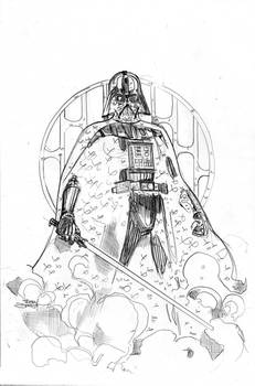 Star Wars Age of Rebellion - Vader Cover Pencils
