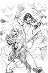 Vampirella Red Sonja #1 Cover Pencils by TerryDodson