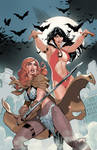 Vampirella Red Sonja #1 Cover by TerryDodson