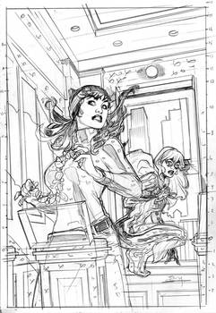 Black Cat 5 Variant Cover Pencils