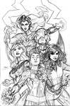 X-Men Fantastic Four 1 Cover Pencil
