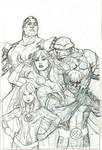 X-Men Fantastic Four 2 Cover Pencil