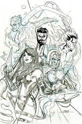 X-Men Fantastic Four #3 Cover Pencils