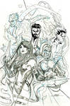 X-Men Fantastic Four #3 Cover Pencils