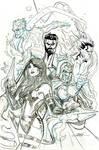 X-Men Fantastic Four #3 Cover Pencils by TerryDodson
