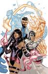 X-Men Fantastic Four #3 Cover by TerryDodson