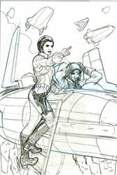 Star Wars 10 Cover Art Pencils by TerryDodson