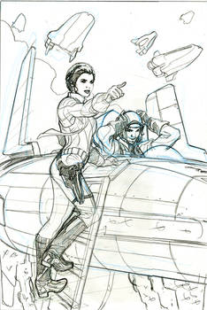 Star Wars 10 Cover Art Pencils
