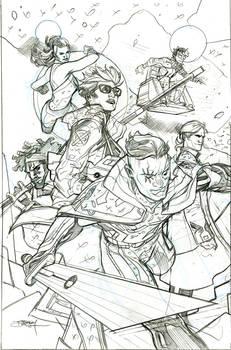 SWORD 1 Cover Pencils