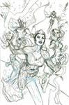 PLANET-SIZE XMEN #1 Cover Pencils by TerryDodson
