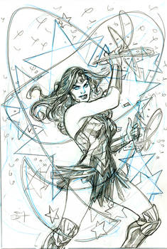 Wonder Woman Black and Gold 2 Cover Pencils