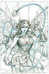 The MIGHY VALKYRIES 4 Cover Pencils by TerryDodson