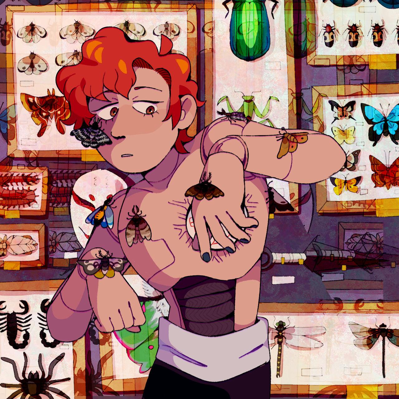 sasori insect illustration
