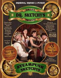 Steampunk Sketchy's Poster by LaMasqueDuMinet