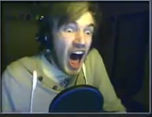 One of PewDiePie's many AHHHHHHH faces XD by cutegal129