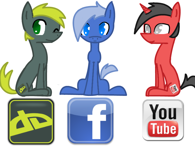 deviantART, facebook, and YouTube pony by cutegal129