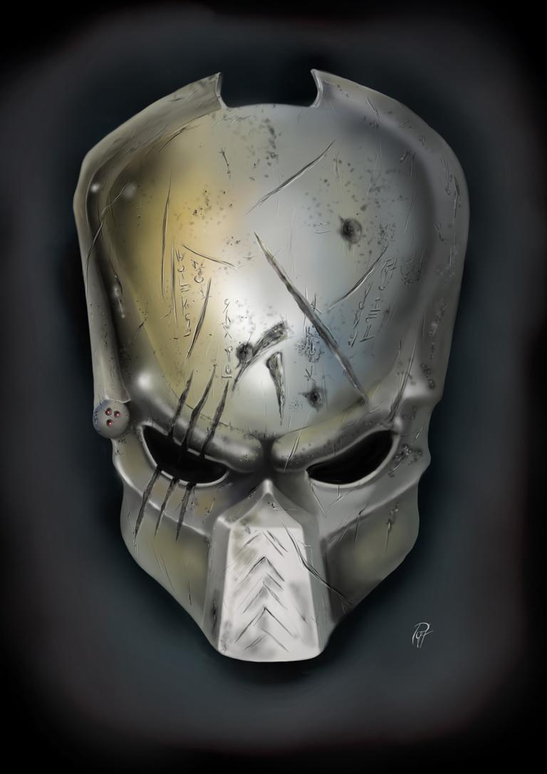 how to draw predator mask