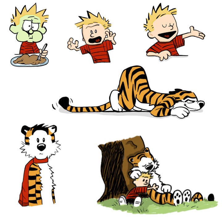 Calvin and Hobbes by jkurosaki