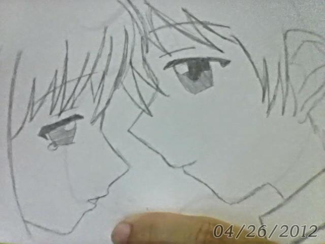 Anime couple sketch by miyuki chan13