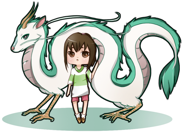 Spirited Away: Dragon Haku and Chihiro by NoizRnel on ...