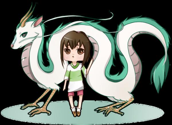 Spirited Away: Dragon Haku and Chihiro by NoizRnel on ...