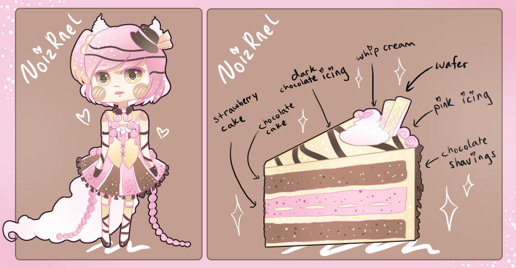 Comm: Strawberry Chocolate Swirl Cake by NoizRnel