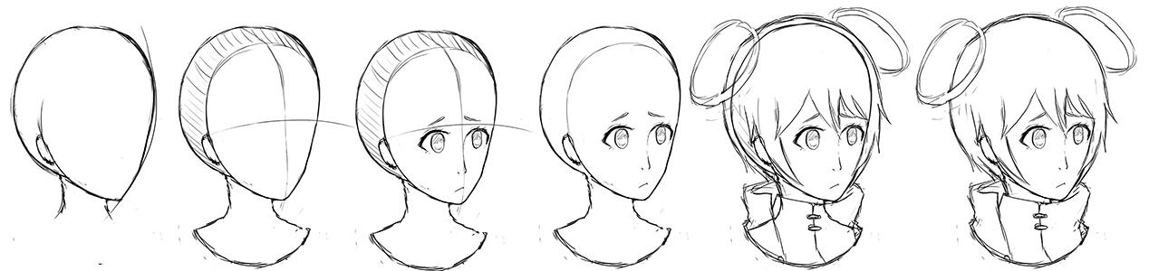 Sketch Headshot - Step By Step by NoizRnel