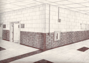 Art Project #3 2-point perspective by Scythena