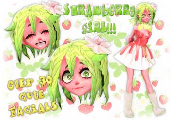[MMD] Strawberry Girl + DL!