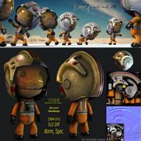 Sackboy: rebel pilot by 3dchris89