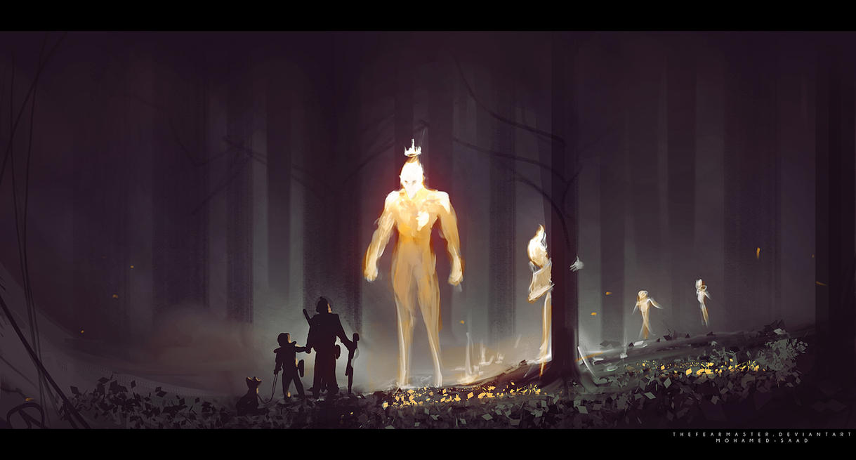 guiding spirits of the forest by TheFearMaster
