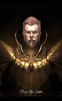 Dragon slayer Ornstein by TheFearMaster