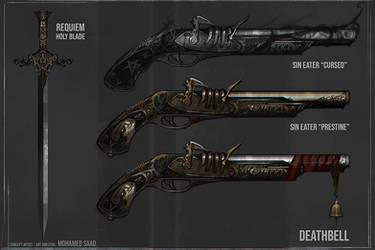 Weapon concepts - Client work by TheFearMaster