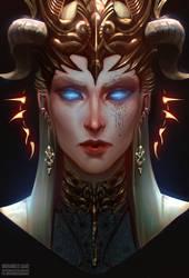 Lilith - DnD character client portrait